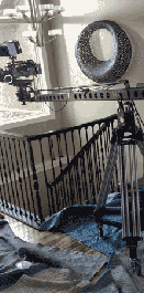 Jib tripod setup for filming